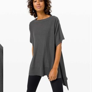NWT Lululemon Be At Ease Poncho Graphite Gray
